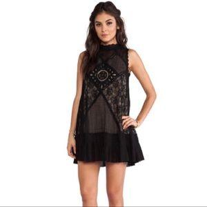 Free People Angel Lace Black Dress